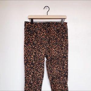 Tripp Leopard Print ultra skinny jeans